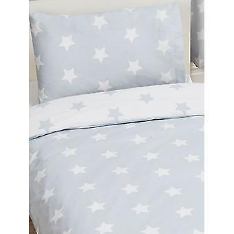 Grey and White Stars 4 in 1 Junior Bedding Bundle Set