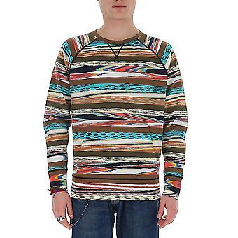 Missoni Mun00238bk00i4fm05e Men's Multicolor Cotton Sweatshirt