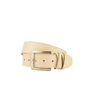Luxury Beige Women's Belt With Crossed Loop