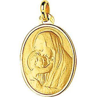 M daille vergine il bambino o 750/1000 giallo (18K)