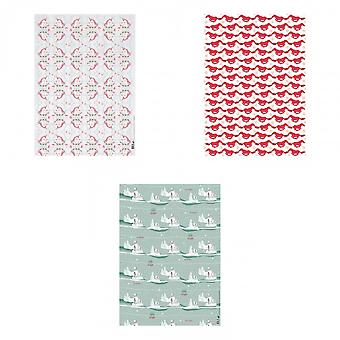 Deckled Edge Christmas Gift Wrap (Pack Of 2)