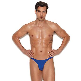 Mens Blue Micro Mini Pouch Thong Underwear