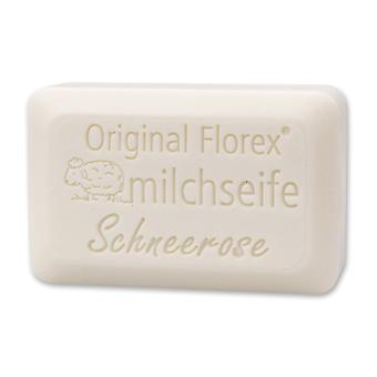 Florex Sheep's Milk Soap - Snow Rose Luxury - Stunning sweet fragrance with lots of moisture 100 g