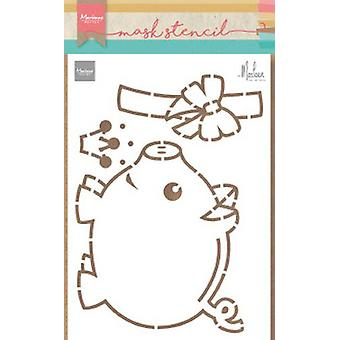 Marianne Design Stencil Piggybank By Marleen Ps8027 149x149mm