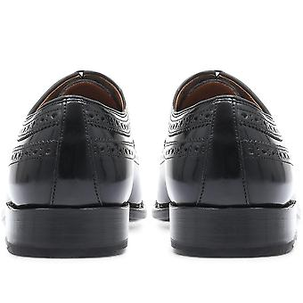 Jones Bootmaker Mens Goodyear Welted Leather Derby Brogue Shoes