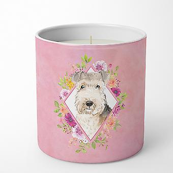 ليكلاند الكلب الوردي الزهور 10 أوقية ديكور الصويا شمعة