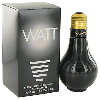 Watt black eau de toilette spray by cofinluxe 500458 100 ml