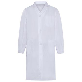 Allthemen Men's Antibacterial Medical Gowns Long SLeeve Medical White Coat