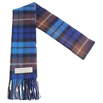 Locharron of Scotland Buchanan Lambwool Scarf - Blue/Brown