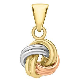 KJ Beckett cuatro doble nudo colgante - oro/plata/oro