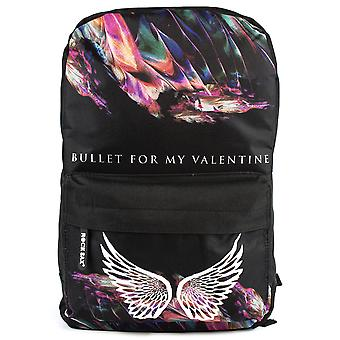 Rock Sax Backpack Bullet For My Valentine Wings BFMV Band Black Rucksack