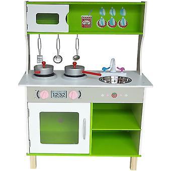 Estilo de Kiddi grande cozinha de madeira moderna
