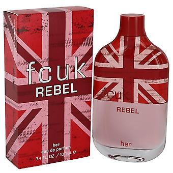 Fcuk Rebel Eau De Parfum Spray By French Connection 3.4 oz Eau De Parfum Spray