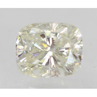 Certified 0.79 Carat G Color SI1 Cushion Shape Enhanced Natural Diamond 5.92x4.91mm