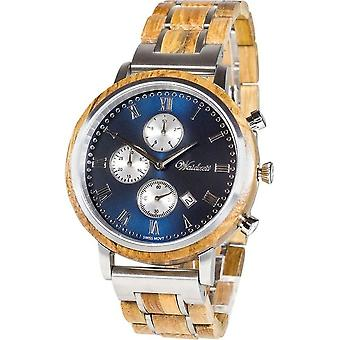 Men's Watch Waid Time Chronograph Whisky Swiss Mountain Blue - SE02