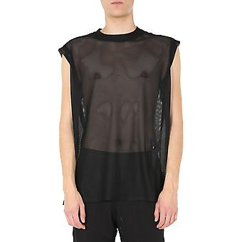 Rick Owens Cm20s002521522709 Men's Black Polyester T-shirt