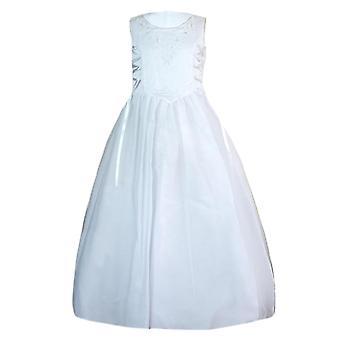 Girls White Holly Communion Dress