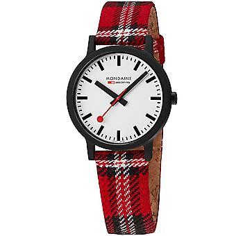 Mondaine Essence Quartz White Dial Black Strap Watch MS1.41111.LC