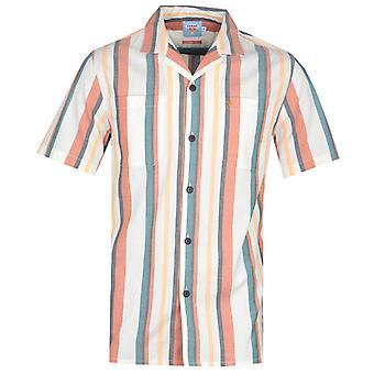 Farah Bloomfield Orange Stripe Short Sleeve Shirt