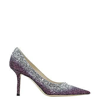 Jimmy Choo Love85vkgplumsilver Naiset&s Purple Glitter Pumput
