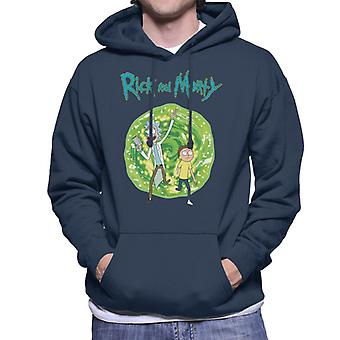Rick and Morty Walking Through Portal Men's Hooded Sweatshirt