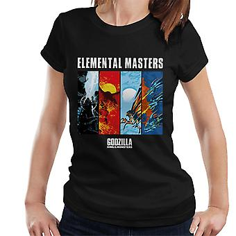 Godzilla Elemental Masters Women's T-Shirt