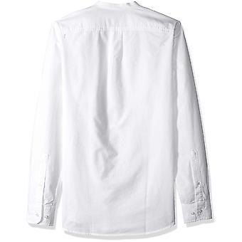Goodthreads Miehet&s Slim-Fit pitkähihainen band-kaulus Oxford paita, -valkoinen, XX-suuri