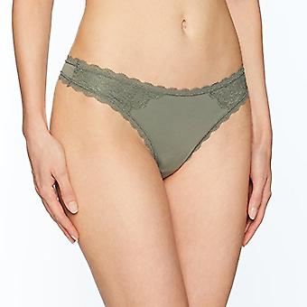 Brand - Mae Women's Supersoft Brushed Microfiber Thong, 3 Pack, Shifting Sand/Dawn Pink/Castor Grey, Medium