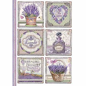 Stamperia Rice Papier A4 Provence Kaarten