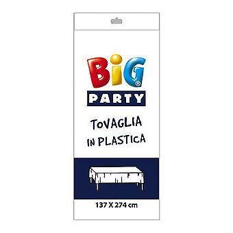 Weißer Kunststoff Tischdecke - 137 x 274cm Party-Dekoration