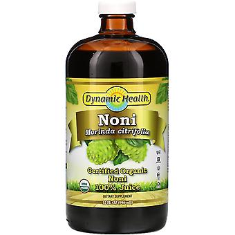 Dynamic Health  Laboratories, Certified Organic Noni 100% Juice, 32 fl oz (946 m