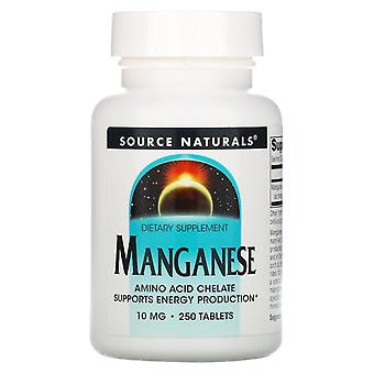 Source Naturals, Manganese, 10 mg, 250 Tablets