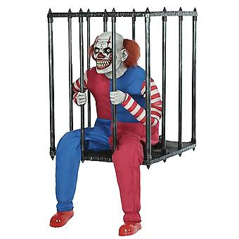 Animated Caged Clown Costume Accessory Halloween Prop Trick Or Treat 2019