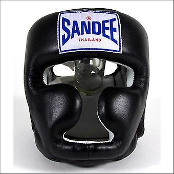 Sandee closed face head guard - black