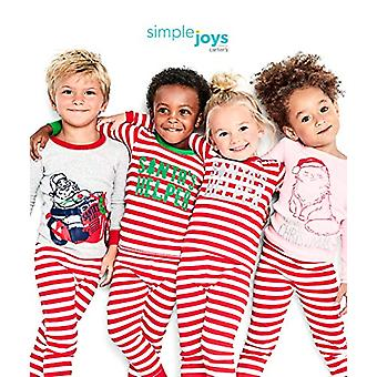 Simple Joys di Carter's Girls' 3-Piece Snug-Fit Cotton Christmas Pajama Set, ...