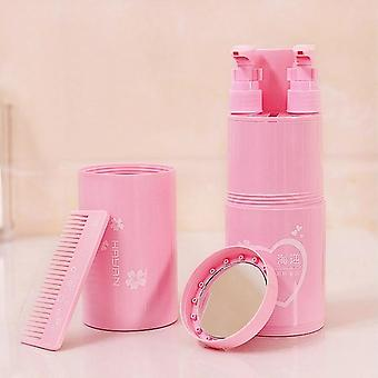 Portable Travel Toothbrush Cup, Partitioning Wash Toothpaste Holder, Storage