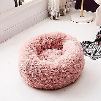 Round Plush Cat Dogs Bed - Winter Warm Sleeping Bed