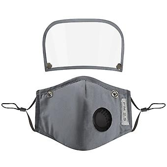 Pack 3 kids cotton reusable face mask with detachable eye shield