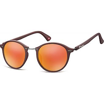 Sunglasses Unisex Panto brown/red (MS22)