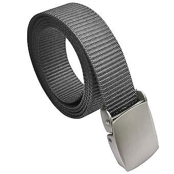 Grey Canvas Buckle Belt One Size