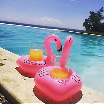 Oppustelige Flamingo Cup Holder Swimming Pool Party Drink Floats Coaster Pool Float Cup Seat Svømning Børn & apos;s Legetøj
