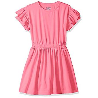 / J. Crew Brand- LOOK by Crewcuts Girls' Ruffle Sleeve Dress, Pink, Med...