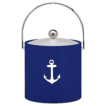 Kasualware 3 Qt. Ice Bucket Blue Anchor