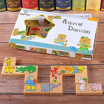 Wooden Animal Domino Puzzle - Jigsaw Game