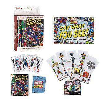 Marvel Dire quello che si vede e Marvel carte da gioco Pacchetto fan dei fumetti Marvel
