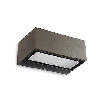 LED Outdoor Wall Light Brown IP44