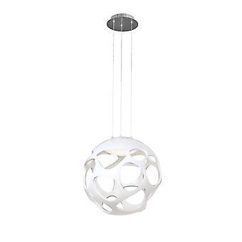 Inspireret Mantra - Organica - Loft Vedhæng 3 Light E27, Gloss White, poleret Chrome