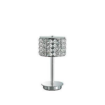 Ideale Lux Roma - 1 lampada da tavolo leggero Chrome, G9