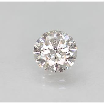 Certified 0.71 Carat E SI1 Round Brilliant Enhanced Natural Loose Diamond 5.77mm
