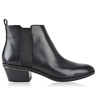 Michael Kors Ezcr073002 Femmes-apos;s Bottes de cheville en cuir noir